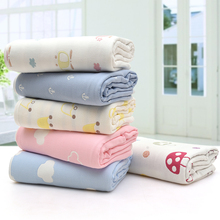 High Quality Cotton Baby Blanket Newborn Envelope Bedding Infant Toddler Mantas Swaddles Muslin 6 Layers Wrap
