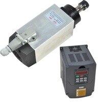 4KW eixo CNC refrigerado a ar DO EIXO DO MOTOR para máquina de trituração & 4KW variável inversor de freqüência inversor vfd controlador de velocidade do motor