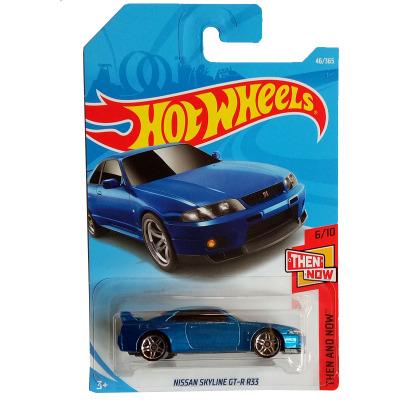 nouveautés 2018 8b 1: 64 bleu nissan skyline gtr r33 voiture modèles