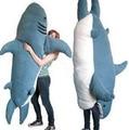 Cartoon Animal Shark Beanbag Giant Plush Soft Sharks Toy Sleeping Bag Tatami Sofa Mat 2 Sizes Free Shipping