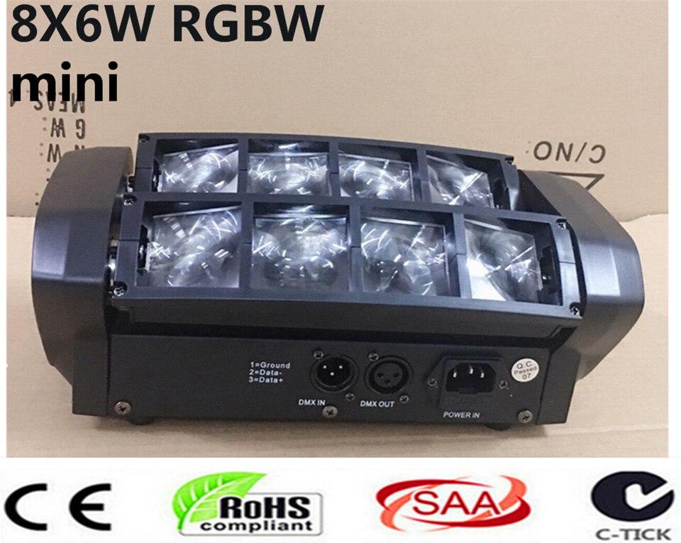 Mini led spider 8x6 w rgbw fascio di luce di buona qualita trasporto veloce dj mini luce capa commovente
