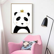 New Cartoon Panda Canvas Poster Wall Art Nursery Print Nordic Child Decoration Picture No Photo Frame Boy Bedroom Decor Sale XM