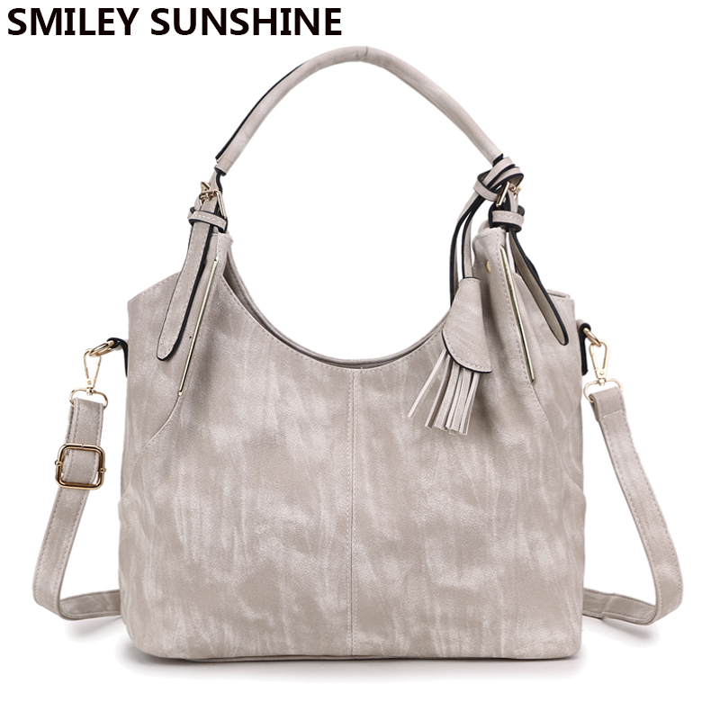 SMILEY SUNSHINE big women shoulder bags large top-handle leather handbags ladies crossbody bags vintage tote bag for women 2017 women bags 2017 original design vintage top handle genuine leather rivets satchel shoulder crossbody handbag big tote