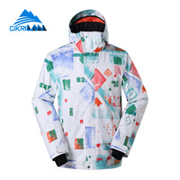 Cikrilan Hard Wearing Windstopper Outdoor Warm Snowboard Jacket Men Snow Winter Ski Coat Water Resistant Chaquetas
