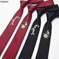 Nueva marca de Moda Para Hombre de La Boda Del Partido Accesorios de Vestir Flor Patrón De Bordado Esmoquin Corbata delgada T172208