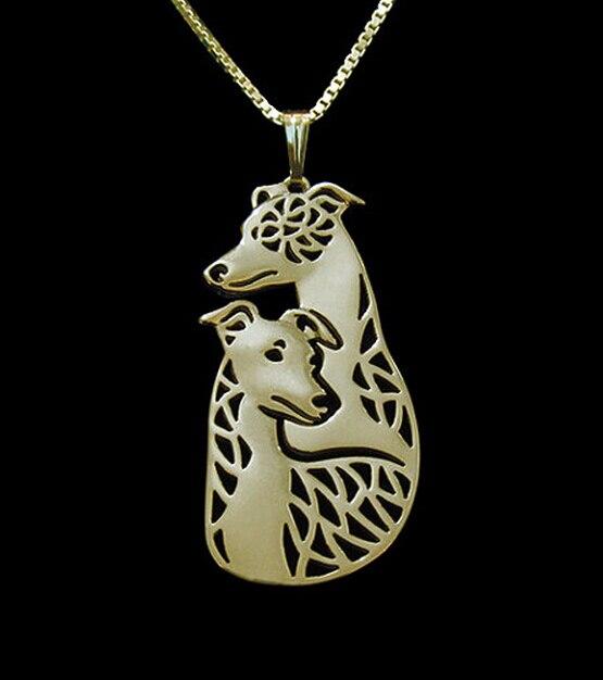 Фото ожерелье для пары собак whippet летняя мода кулон в виде мультяшной