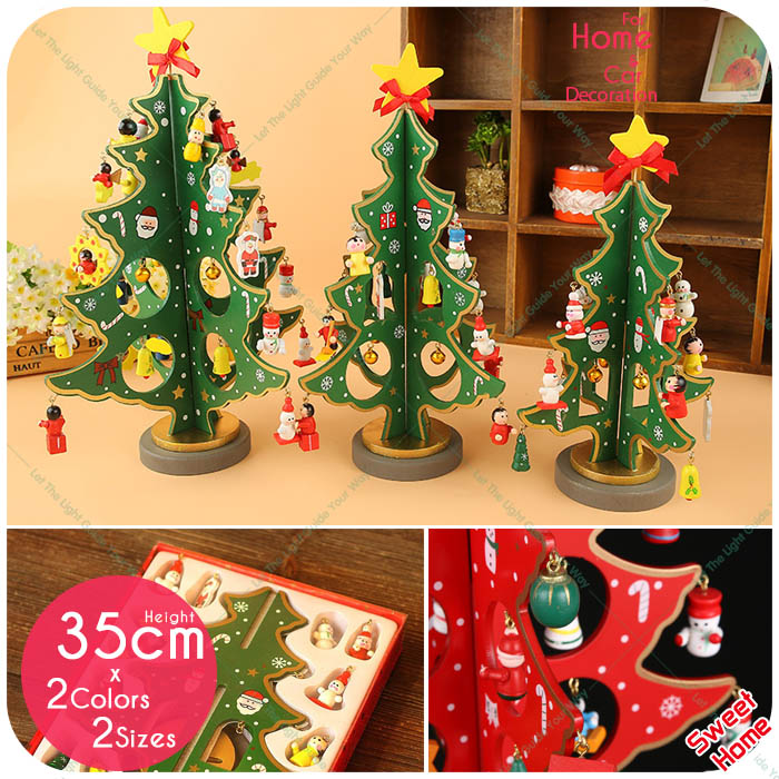 1PC 3D Christmas Tree Wooden Home Shop Store Decoration