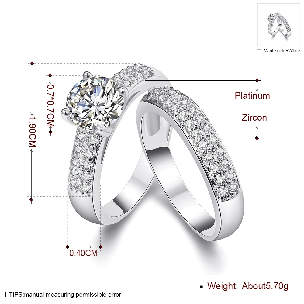 Hot Sale Jewelry Pair Ring Set Gold Color DIY Couple Rings Female Set Of 2pc For Women Bridal Alliance Ring US Size