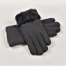 Warm And Windproof Sheepskin Gloves Winter Women's Thickening Leather Glove Skiing Outdoor Cycling Gloves