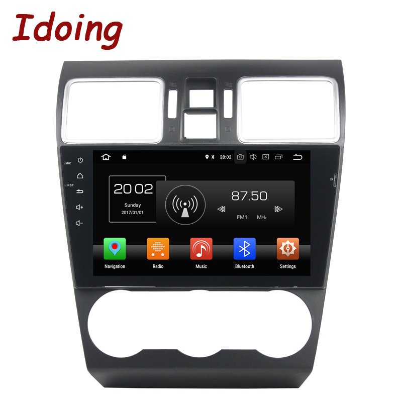 Idoing 9Android 8.0 Car DVD Player For Subaru WRX 2013-2017 2Din 8Core Steering Wheel Control GPS Navigation 1080P Video 4G+32G