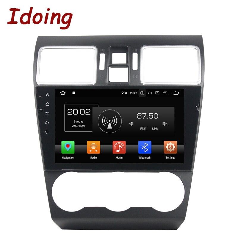 Idoing 9 Android 8.0 Lecteur DVD de Voiture Pour Subaru WRX 2013-2017 2Din 8 Core Commande Au Volant GPS Navigation 1080 p Vidéo 4g + 32g