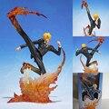 Аниме One Piece Борьба Рисунок Куклы Черная Ножка Санджи Огонь Битва PVC Фигурки Модель Игрушки 16 см