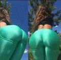 2016 Весенняя Мода Сексуальные Женщины Леггинсы Спортивной Сплошной Цвет Тонкие Узкие Леггинсы Фитнес для Девочки Леггинсы