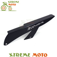 Aluminum Black Chains Guard Cover Shield For Kawasaki ZX10 ZX10R 2006 2009 2007 2008 06 09 07 08 Motorcycle
