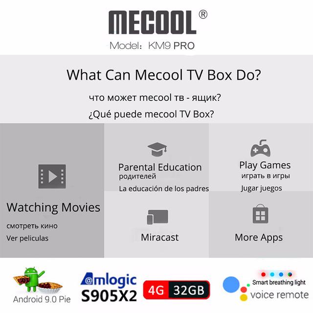 Mecool KM9 PRO S905X2 4k TV Box Android 9.0 4GB/32GB