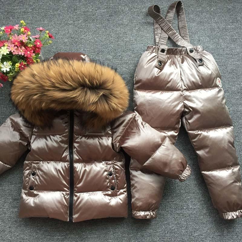 Детские комплекты для русской зимы на температуру до 30 градусов, детская одежда для девочек, лыжный костюм для мальчиков, уличные спортивны