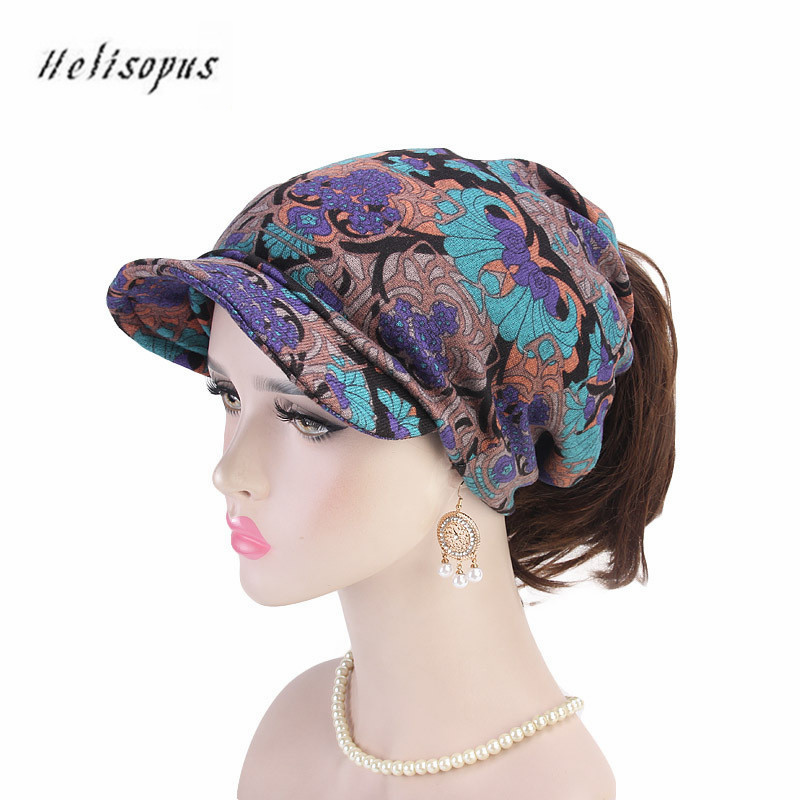Helisopus 2019 Women Winter Warm Ponytail Cap New Wool Hat Baggy Hat Girls Casual Hip-Hop Fashion Skullies Beanie Warm Hat