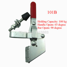 5PCS Vertical Type Toggle Clamp 101B  U Shape Bar Flanged Base Holding Capacity 100KG 220LBS