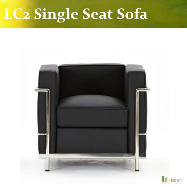 ubest black real leather lc2 armchair leisure le corbusier sectional sofa leather