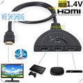 High Quality 3in1 Port 1080P 3D HDMI AUTO Switch Switcher Splitter Hub with Cable for DVD TVBOX HDTV PS3