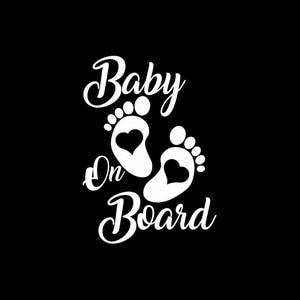 Image 2 - SLIVERYSEA Sticker Vinyl Hobby Car Decal Baby on Board Black/Silver