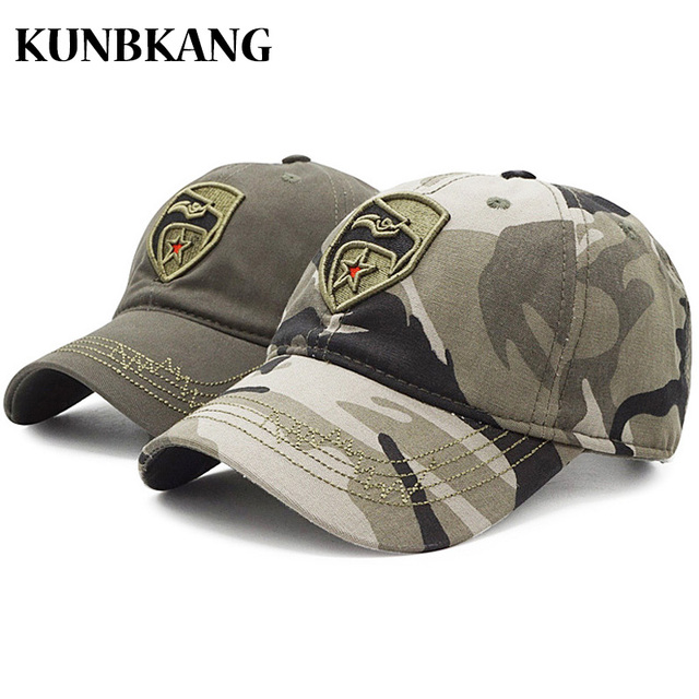 4cc741d7d6b358 High Quality Camo Baseball Cap Men Camouflage Embroidery Eagle US Tactical  Dad Hat Bone Male Summer Outdoor Visor Snapback Caps