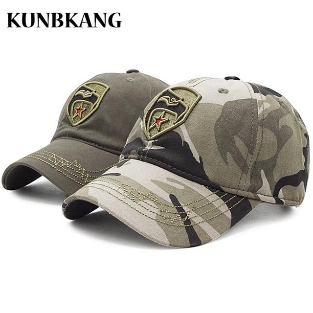 34da5185725 High Quality Camo Baseball Cap Men Camouflage Embroidery Eagle US Tactical  Dad Hat Bone Male Summer Outdoor Visor Snapback Caps