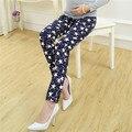 Nova moda Primavera outono casual maternidade calças stretch mulheres grávidas calças Abdominais ajustáveis padrão de Estrela