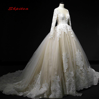 Elegant Long Sleeve Lace Wedding Dress Vintage Ball Gown Wedding Gowns Weeding Weding Bridal Bride Dresses Weddingdress