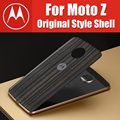 official original fitted case for moto z play style shell battery back cover ebony black red apply to XT1650 XT1635 by Moto Mods