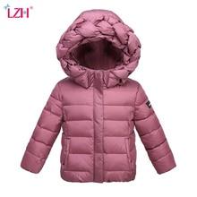 LZH Baby Girls Jacket 2017 Autumn Winter Jacket For Girls Infant Coat Kids Twist Hooded Warm