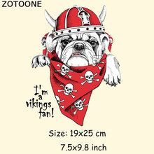 ZOTOONE Ghost Dog Iron On Letter Patches For Clothes 19*25cm A Washable Embroidery Sewing Applique Thermal Heat Transfer
