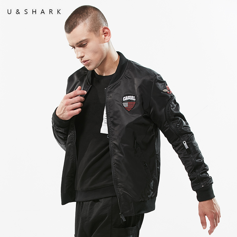 U Shark Spring Autumn Casual Bomber Jacket Men Brand Clothing Street