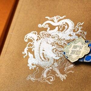 Image 5 - Cuaderno tallado de estilo chino clásico, libreta creativa con brocado de dragón chino, cuaderno de regalo de negocios a la moda, 50 hojas