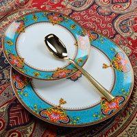 Western table service plate steak plate creative european ceramic dishes dinner plates high grade ceramic tableware