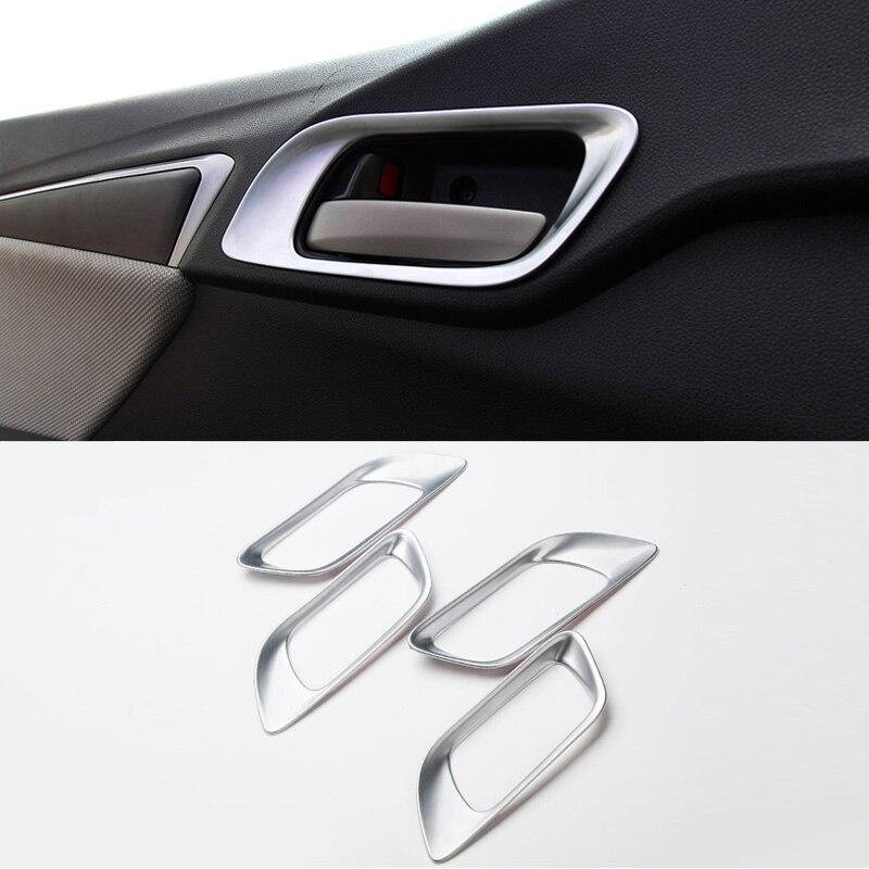 4Pcs Chrome Exterior Door Handle Cap Decor Fit Honda Accord Sedan 2013 2014 2015
