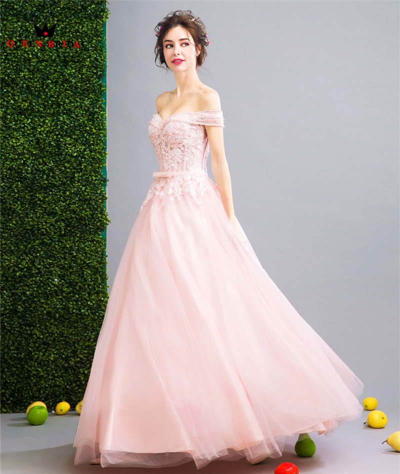 QUEEN BRIDAL Evening Dresses Ball Gown Pink Lace Beading Long Party ... 81d6bdf35203