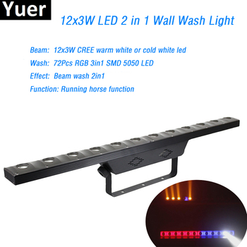 цены 12x3w+72pcs RGB 3in1 SMD Led Wall Washer Light wash Disco DJ Light DMX512 Indoor Equipment For Party Club Bar Stage lighting