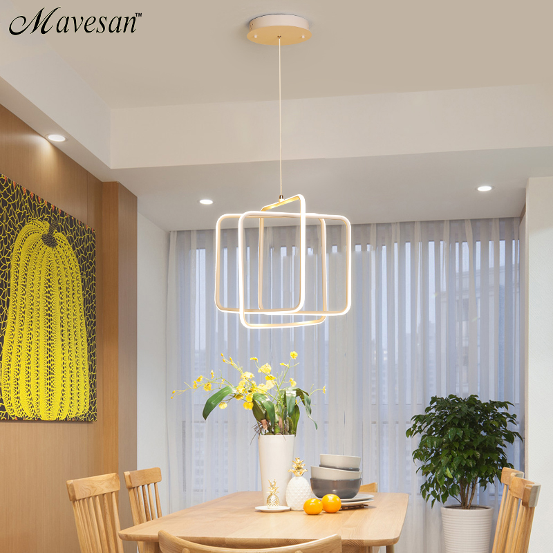 White Color Modern LED Simple Pendant Lights For Living Room Kitchen Dining room Lustre Pendant Lamp Hanging Ceiling Fixtures modern led simple pendant lights for living room cristal lustre square pendant lamp hanging ceiling fixtures zdd0070