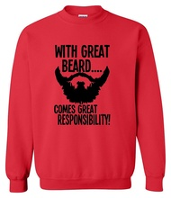 Spring winter 2017 hoodies foe men With Great Beard Comes Great Responsibility printed men's sportswear harajuku sweatshirt hot