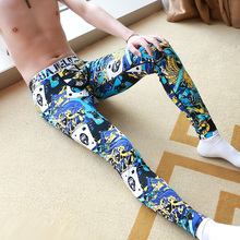 Cartoon printing style males's low-waist tight pants skinny fashions heat pants leggings HJ620