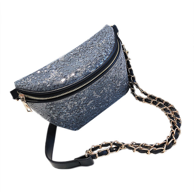 Hillsionly Moda Brilhante Broca Sacos de Lantejoulas Cor Pura sacos Do Mensageiro Tendência Das Mulheres macio Saco Peito Bolsa De Ombro bolsa feminina