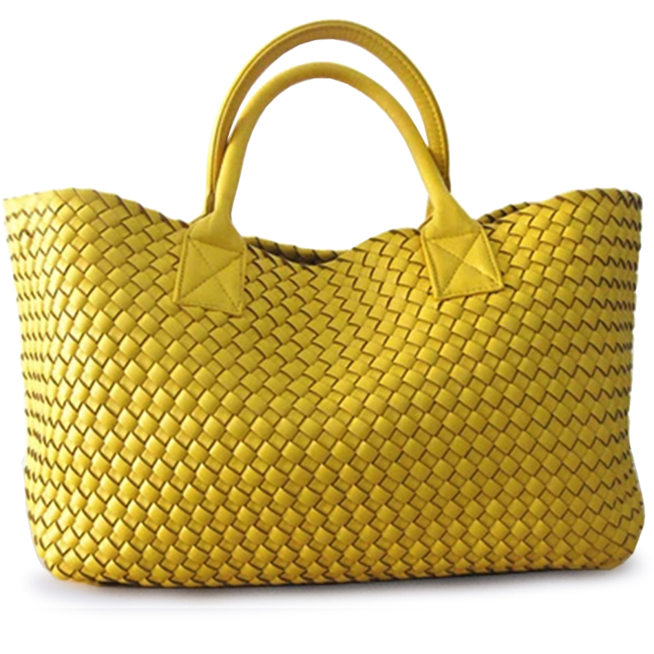 NEW Luxurious Woven handbag bales new tide hand shoulder large capacity brand Casual Tote bag Top Handle Bags shoulder bags-in Top-Handle Bags from Luggage & Bags    3