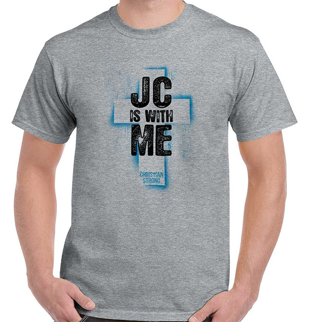 a1449aa3d T Shirt Design Website Men's O-Neck New Style Short Sleeve JC Jesus Christ  With Me Lord Savior God Religious Christian T-Shirt