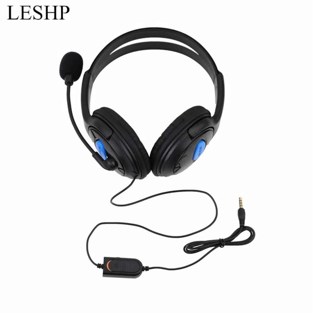Wired Gaming Headset Earphones Headphones with Microphone Mic Stereo Supper Bass for Sony PS4 for PlayStation 4 Gamers Wholesale mvpower stereo gaming headset super bass wired headphone with microphone for sony playstation 4 for ps4 for ps3 game earphone