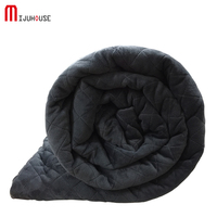 American Style Weighted Blanket Dark Grey Crystal Velvet Quilting Duvet Cover Decompression Air Insomnia Conditioning Cotton