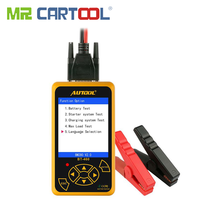 BT460 Battery Tester Car 12V 24V Digital Analyzer Automotive Cranking Charger CCA Vehicle 4 TFT Auto