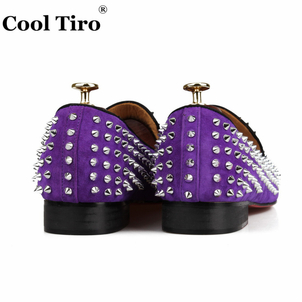 spikes Loafers purple suede  (10)