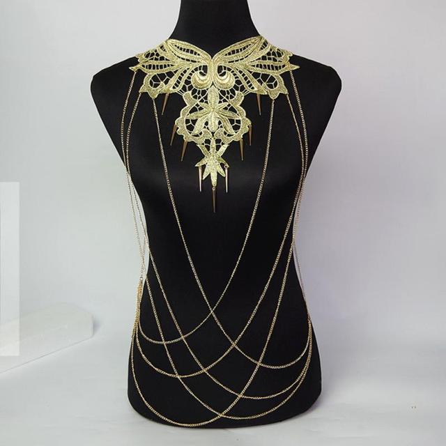 Whole Body Chain Necklace Jewelry Ancient Tribe Style