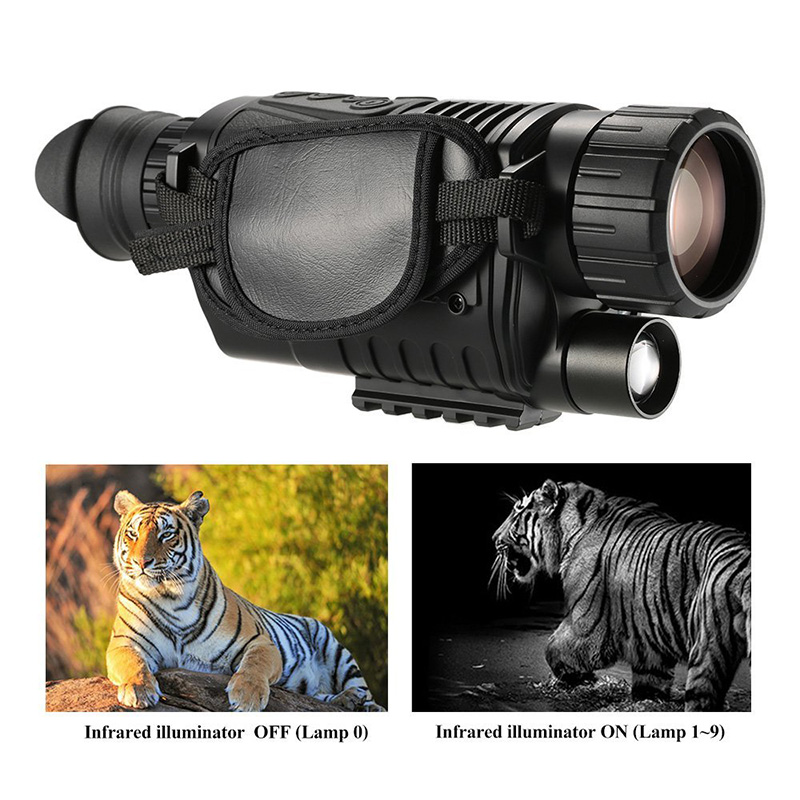 WG540 5X40 Hunting Night Vision Monocular 200M Infrared Range Night Vision Camera 5MP Optics Monocular Device